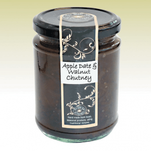 Apple date & walnut chutney